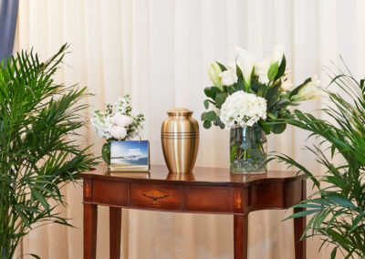 Urn on Table